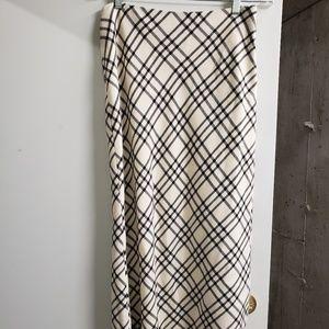 Wool plaid Maxi skirt